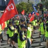 'Record' Labour Day parade pounds Brisbane's streets
