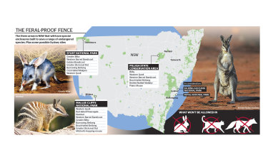 Three areas will have special enclosures built to protect endangered species.