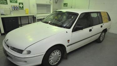 Bradley Edwards' former 1996 Holden Commodore VS Series 1 station wagon.