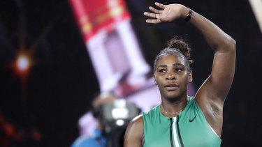 Serena Williams defeated world number one Simona Halep to reach the quarter finals.