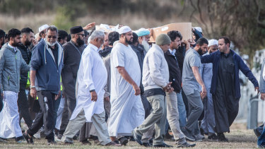 The funeral for one of 50 victims from the shootings at two Christchurch mosques.