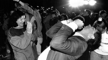 Scenes of celebration from Homebush Bay, September 24, 1993.