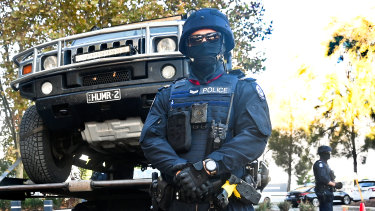 WA Police seized a black Hummer as part of its drug operation.