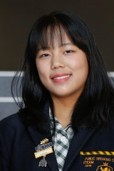 International student Chuting Tang, dux of Balwyn High School, was one of just six girls to get an ATAR of 99.95.