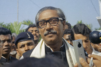 Bangladesh Premier, Sheikh Mujibur Rahman, pictured in 1972. Bangladesh has executed his killer nearly 45 years after the assassination.