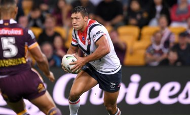 Ryan Hall debuted for the Roosters against the Broncos in round 10.
