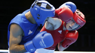 Pinnacle: Jeff Horn, fighting Tunesia's Abderrazak Houya in the London Olympics, says it would be a disaster for amateur boxers to be deprived of the Olympic experience.