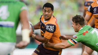 Shy to a fault: Brisbane playmaker Anthony Milford.