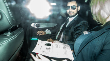 Salim Mehajer leaves Silverwater on Wednesday evening.