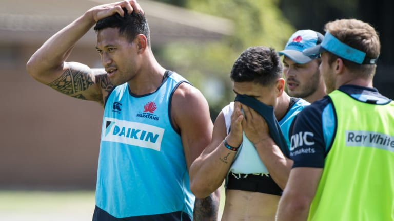 Dilemma: Folau's comment has not drawn a reaction yet from Rugby Australia