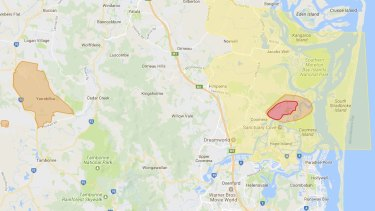 Unexploded ordnance map - Gold Coast.