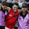Essendon's thumping loss to Port Adelaide compounded by injuries