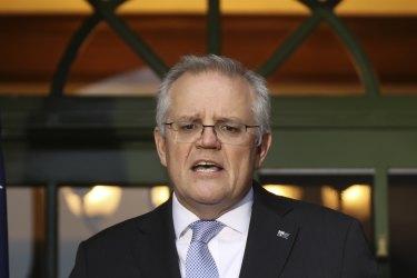 Prime Minister Scott Morrison on Friday.