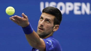 Current Australian Open champ Novak Djokovic.