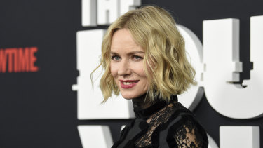 Naomi Watts at the premiere of The Loudest Voice in New York last month. She is now back in Sydney to shoot her new film.