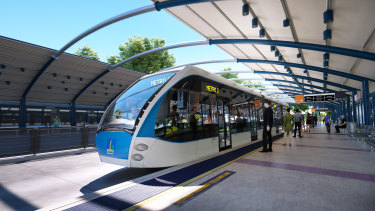 The latest design image for Brisbane Metro.