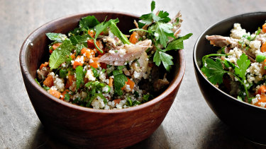 A River Cottage Lamb and mint couscous is a great way to use up your leftovers.
