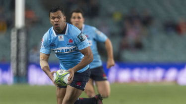 Bright spot: Kurtley Beale with the ball against the Highlanders.