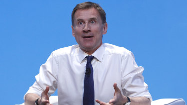 Foreign Secretary Jeremy Hunt speaks at the Conservative Party event.
