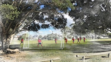 Design image for a new sporting field at Rocklea.
