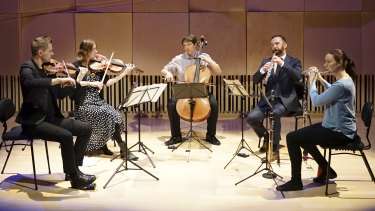 Inventi perform at the Melbourne Recital Centre.