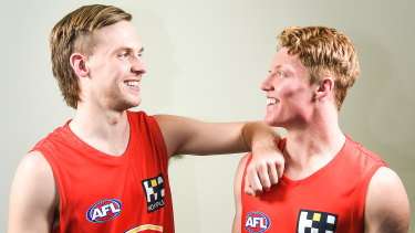 The No.1 and No.2 picks taken by Gold Coast: Noah Anderson and Matthew Rowell.