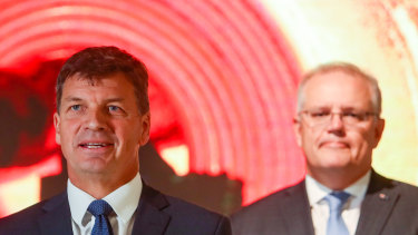 Angus Taylor and Scott Morrison are taking a bet on hydrogen in the government's imminent energy technology road map.