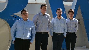 Bankwest data science graduates Jonathon Kok, Brayden Calzada, Tim Howat and Jack McDonald.