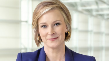 Leigh Sales, the host of the ABC's 7.30, called out an unwelcome kiss.