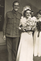 Jean Cawood (later Jean Smith) marries her first husband, Les Wilkin, in November 1940. Five months later, he was killed in action.