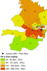 Older properties in Sydney's inner-west have much higher levels of lead than outer suburban areas.