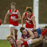 Action from the Port Melbourne v Northern Bullants VFL match.