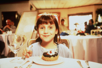 Mara Wilson in 1996 film Matilda.