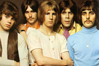 Alan Lancaster (left) with Status Quo in the early 1970s.