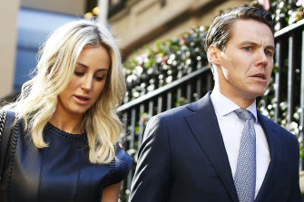 Roxy Jacenko and Oliver Curtis during the 2016 trial.
