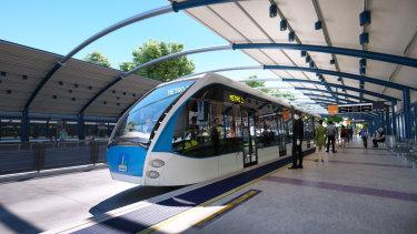 The latest design image for Brisbane Metro.
