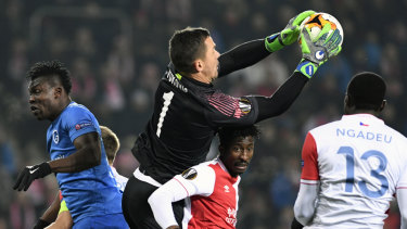 Goalkeeper Danny Vukovic in action for Genk last season.