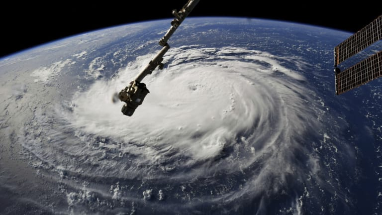 Hurricane Florence as seen from the International Space Station on Monday.
