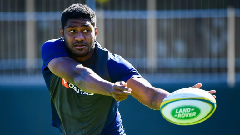 Isi Naisarani is in his first Wallabies squad but won't be eligible for Australia until next April.