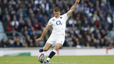 Just: Owen Farrell did enough with the boot to help the home side to victory.