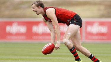 Calf problem: Joe Daniher has had an injury setback.