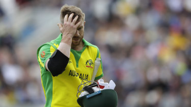 Identity: David Warner walks off after being bowled in the clash with Sri Lanka.