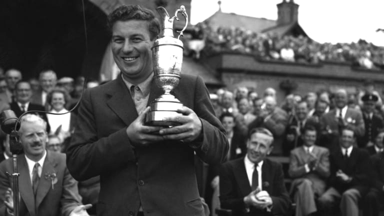 Peter Thomson after winning the British Open Golf Championship.