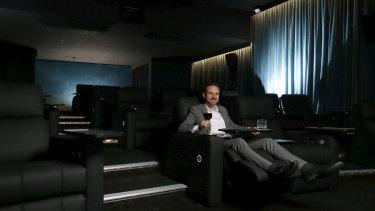 Palace Cinemas boss Benjamin Zeccola in the new Platinum cinema at Como.