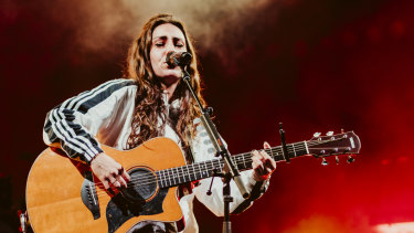 Amy Shark performs at Brisbane Riverstage on May 17, 2019.