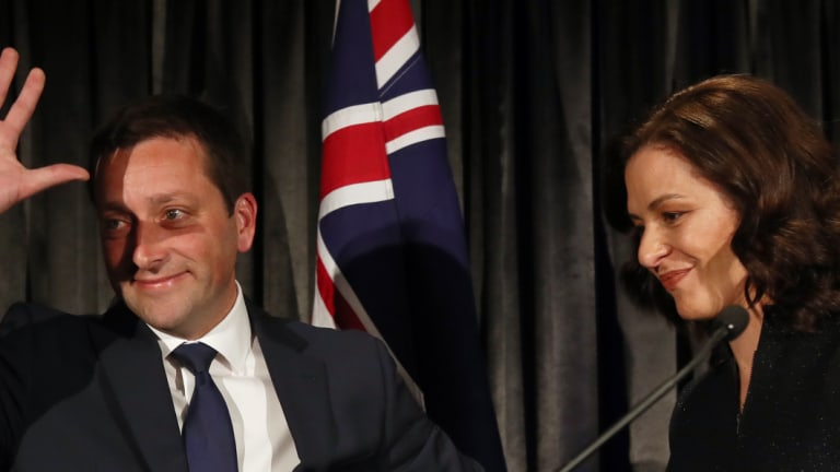Opposition Leader Matthew Guy concedes defeat on Saturday night.