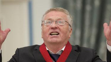 Russian lawmaker Vladimir Zhirinovsky.