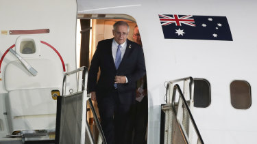 Prime Minister Scott Morrison touches down in Argentina.