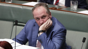 Barnaby Joyce is the kind of character who favours crashing through the crowd on the way to the bar.