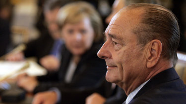 Jacques Chirac, right, attends a meeting of the G8 Summit in St Petersburg, Russia, in 2006.